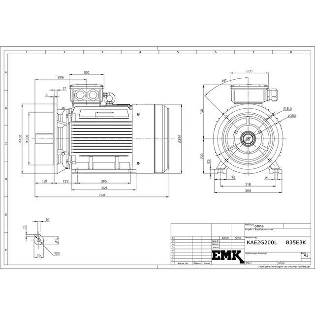 L/üfter Motork/ühlung Durchmesser 345 mm Info mit Elektromotor 1740-2127 L/üfter K/ühlung